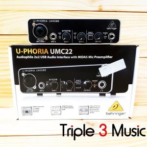 Behringer UMC22 (UMC 22) Soundcard Recording 2 input 2 out garansi