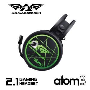 Armageddon Gaming Headset Atom 3 Free Polo Shirt - Garansi 1 Tahun