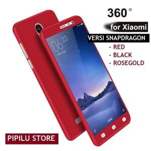 Hardcase Case 360 Fullset Free Tempered Xiaomi Redmi Note 4X MEDIATEK .