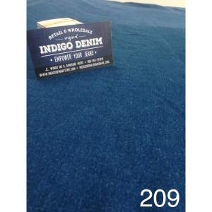 209 - Jual Bahan Denim Blue Stretch Washed Medium Weight