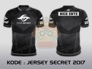 JERSEY KAOS BAJU TEAM GAMING DOTA 2 CS GO ML AOV GAMER SECRET 2017