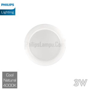 Lampu Downlight LED Philips 3W 59260 Eridani Cool White Natural