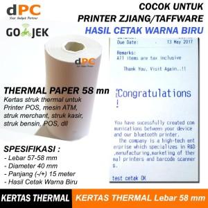 Best Kertas Thermal Paper 58 X 30 Mm Struk Kasir Pos 58mm 250 Buah Bukalapak.