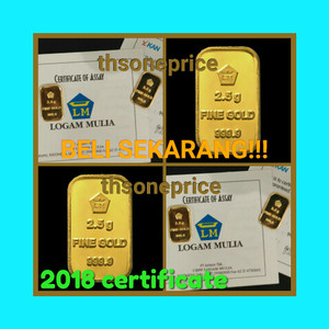 Daftar Harga Gold Bar Emas 999.9 Logam Mulia [Sertifikat Antam-5 g] Harga Rp 3,500,000 | Dokuprice.com