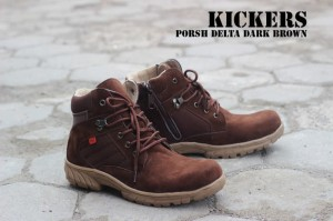 Sepatu Kickers Boots Safety Porsh Delta Dark Brown