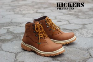 Sepatu Kickers Boots Safety Wildtap Tan