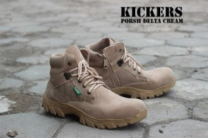 Sepatu Kickers Boots Safety Porsh Delta Cream