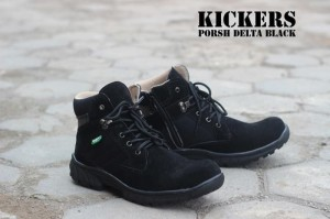 Sepatu Kickers Boots Safety Porsh Delta Black