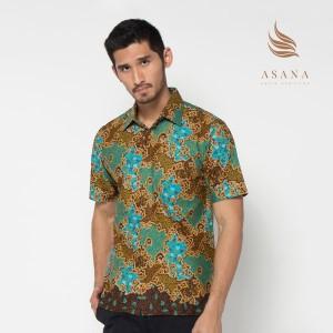 ASANA Sekar Jagad Batik Regular Short Sleeve Shirt - Blu