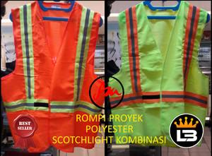 Rompi/Rompi kerja/work vest polyester kombinasi murah dan bagus