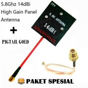Upgrade FPV Paket Spesial Antena FPV 5.8G 14dBi + Pigtail Gold