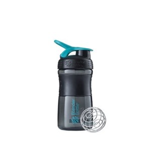 Mini SportMixer Shaker Whey Susu Botol Black Teal