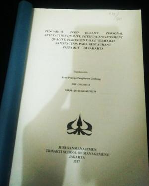 Jual Buku Contoh Skripsi Fakultas Manajemen Jakarta Barat