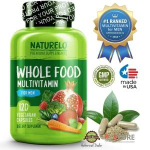 NATURELO - #1 Ranked - Whole Food Multivitamin for Men - 120 capsules