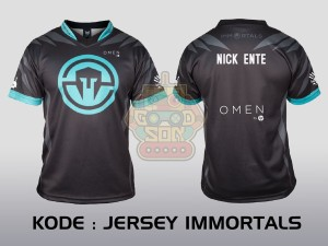 JERSEY KAOS BAJU TEAM GAMING DOTA 2 CS GO ML AOV GAMER IMMORTALS