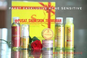 Shineskin paket acne white sensitif/komedo