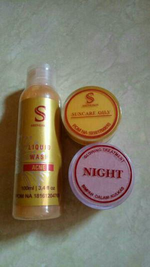 Shineskin paket hemat acne lanjutan white glow