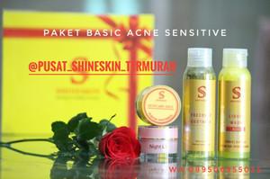 Shineskin paket acne sensitif/ komedo