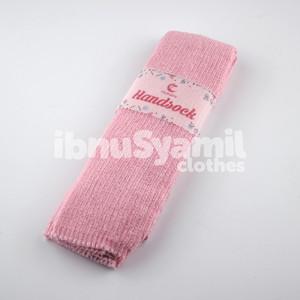 Manset Tangan Handsock Rajut Muslimah IbnuSyamil Baby Pink