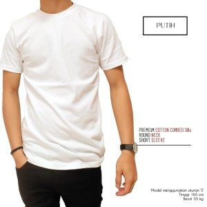 Kaos Polos Premium 100% Full Cotton Combed 30s Garansi Uang Kembali