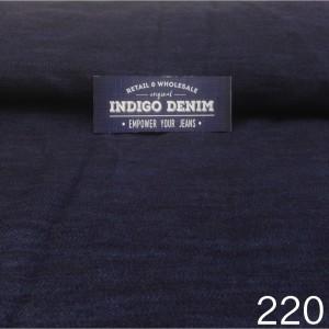 220 - Jual Bahan Jeans / Denim Blue Non Strech Washed Medium Weight