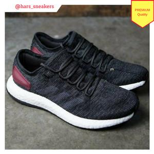 Sepatu Adidas Pure Boost Black Burgundy Premium Quality