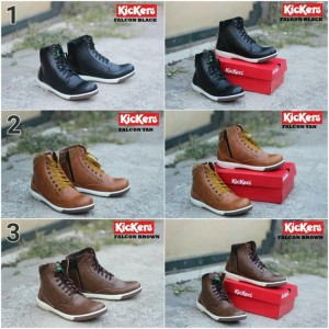 Sepatu Semi Boots Casual Kickers Falcon Best Seller
