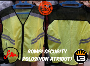 Rompi/Rompi security/Rompi keamanan polos/Rompi non atribut