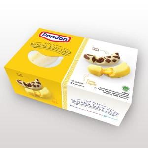 PONDAN Banana Softcakes (1 box isi 8 pcs)
