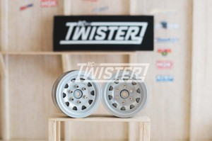 Gmade SR04 1.9 Stamped Steel Wheels - Silver Semigloss