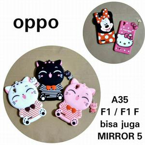 Oppo A35 F1 F1f Mirror 5 (Bisa untuk 4 type Hp) Case Boneka 3D