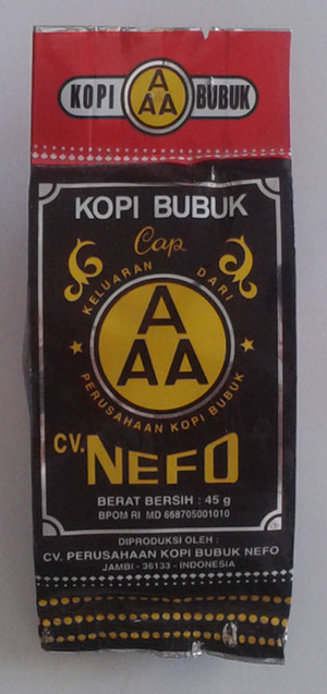 Kopi Bubuk Jambi Nefo Cap AAA 45 g