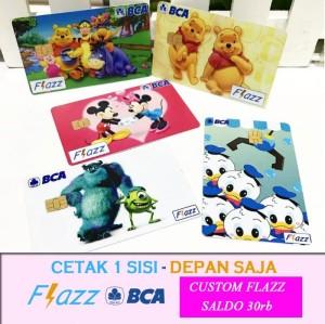 PRINT 1 SISI - BCA FLAZZ CUSTOM DESIGN / FOTO  / GAMBAR BEBAS