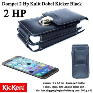 Dompet Pinggang  2 HP DobelKickers  black