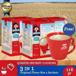 [Free MUG] Quaker 3 in 1 Original Box 4s-3Pcs(As4-1MUG-8997020180299)