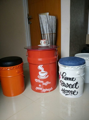 Jual Kursi Cafe Kekinian Kursi Tong 1 Set 1 Meja 4 Kursi Kota Tangerang Selatan Mbak Galuh Kursi Drum Tokopedia