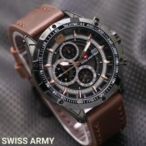 Jam Tangan Pria Swiss-Army-Dino-DarkBrown