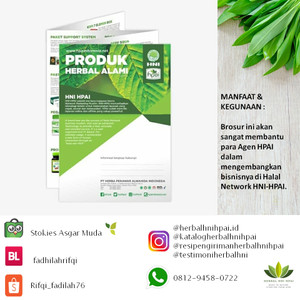 Brosur herbal hni hpai isi 30 lembar