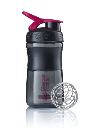 Mini SportMixer Shaker Whey Susu Botol Black PINK