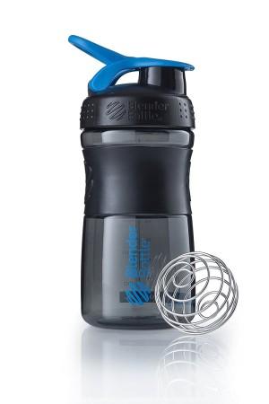 Mini SportMixer Shaker Whey Susu Botol Black CYAN