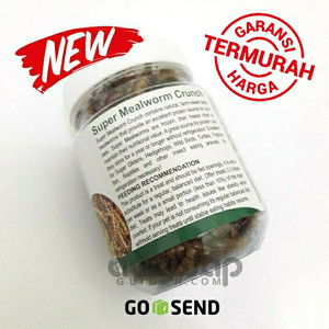 Ulat Jerman Kering Sugar Glider - Dried Super Mealworm