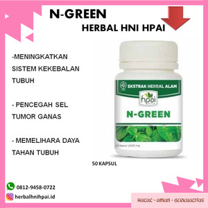 herbal hpai N GREEN mengobati penyakit kolestrol jantung diabetes