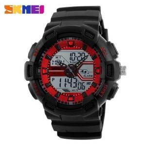Jam Tangan Pria SKMEI Dual Time Casio Men Sport Original 1189 Merah