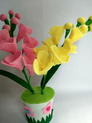 Jual Vas Bunga Anggrek Flanel Jakarta Selatan Della Adelia Florist Tokopedia