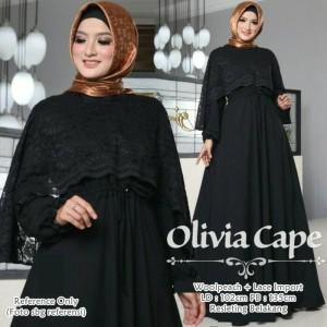 Olivia Cape Dress Black
