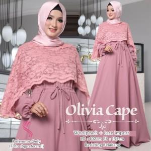 Olivia Cape Dress Dusty