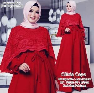 Olivia Cape Dress Maroon