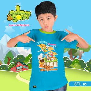 Kaos Anak Muslim -Abbas bin Firnas - Penerbang Pertama - STL 10 (M)