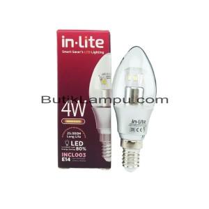 Lampu Candle LED E14 4W Inlite Kuning