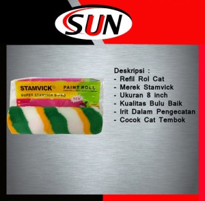 "Isi Ulang Roll Cat 9"" Inch Stamvick | Refil Busa Cat tembok Stamvick"